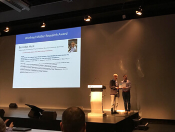 "Preisvergabe auf dem ""International Society for Aerosols in Medicine (ISAM) 2019 Congress"", 27. May 2019, Miles Davis Hall, Montreux Convention Center, Montreux / Schweiz (Foto von C.-M. Lehr, privat)"